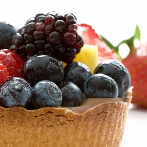 Cocoa-Berry Yogurt Tarts