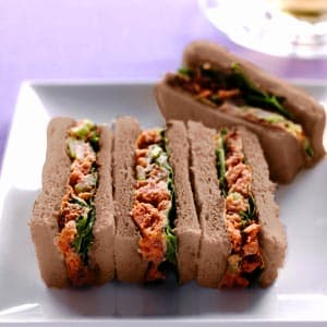 Curried Chicken Finger Tea Sandwiches