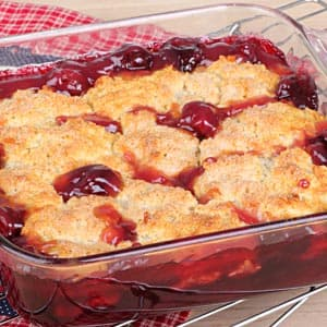 Cherry Berry Cheesecake Cobbler