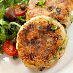 Salmon Pecan Patties