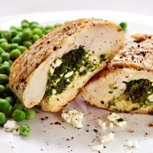 Two-Cheese Mediterranean Stuffed Chicken