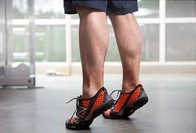 man doing calf raises