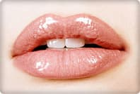close up of a womans lips