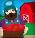 farmer holding bushel of tomatoes
