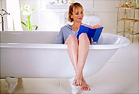 woman in sitz bath