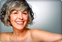woman with beautiful grey hair
