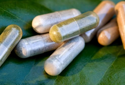 herbal supplements close up