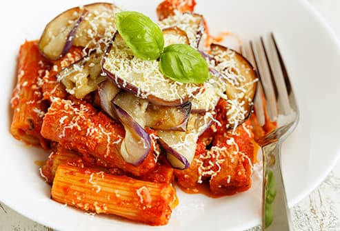 Rigatoni With Eggplant Puree Recipe — Dishmaps