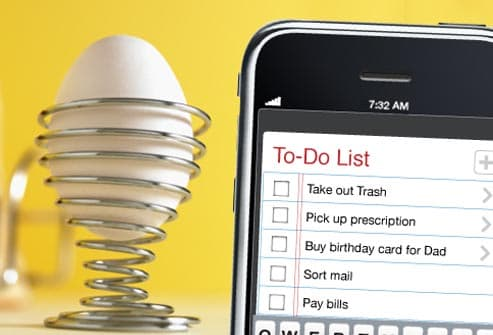 to do list on smart phone