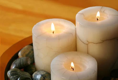 Photo of lit aroma candles