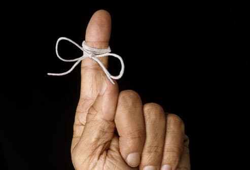 Finger With Reminder String