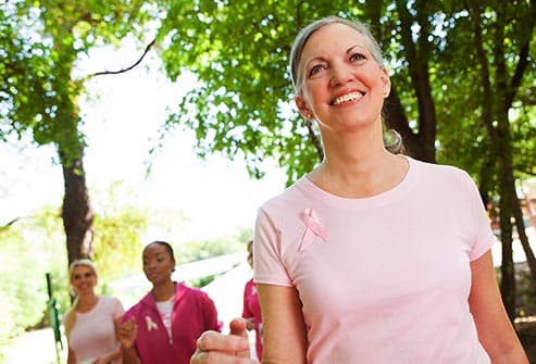 women walking for breast cancer
