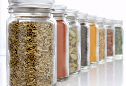 Row of Colorful Spices