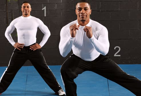 Man Doing a Side Lunge