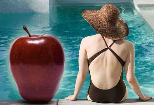 Woman with apple figure