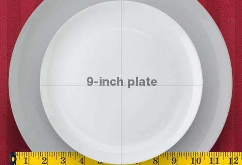 9-inch and 12-inch plates