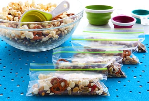 trailmix in snack bags
