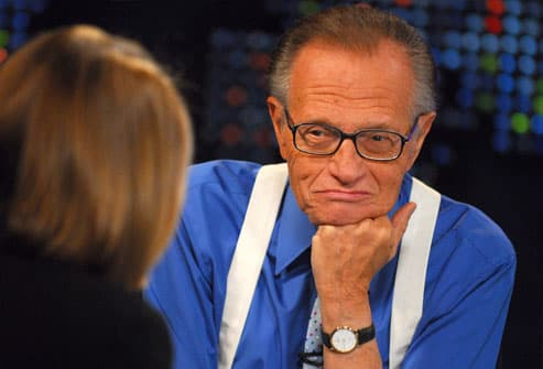 Larry King interviewing Katie Couric on CNN