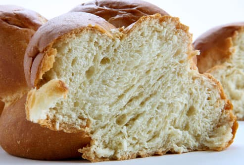 Close up of yeasty bread