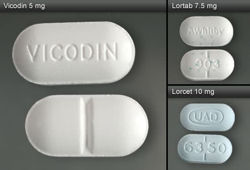 Vicodin, Lortab and Lorcet