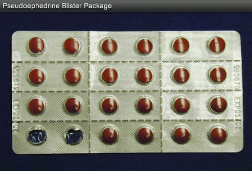 Pseudoephedrine blister package