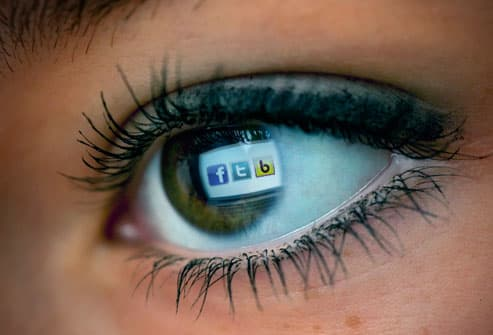 Womans Eye With Social Media Icons