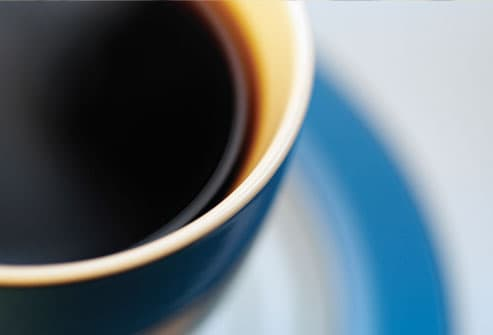 Close up of coffee cup and saucer