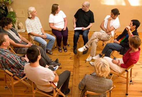 COPD Support Group in Midst of Discussion