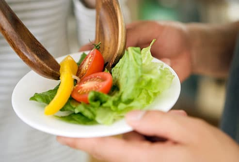 Plate of Healthy Salad