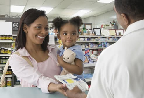 Woman getting prescription filled