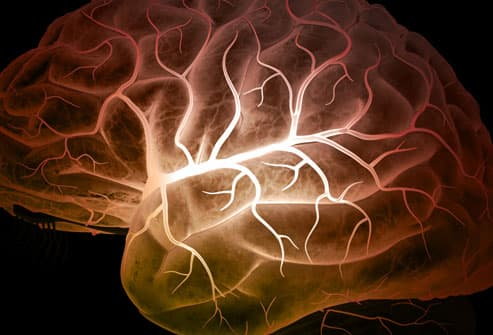 Image of brain and electrical movement