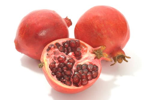 Pomegranates with cross-section