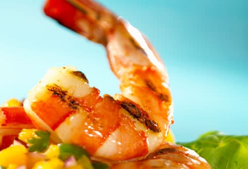 Grilled Shrimps and Vegetables