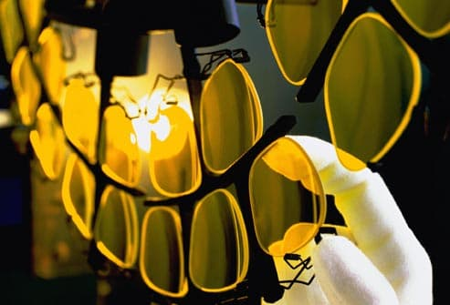 yellow lenses in factory