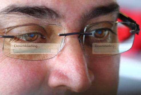 computer reflection in eyeglasses