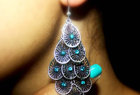 large dangling earring