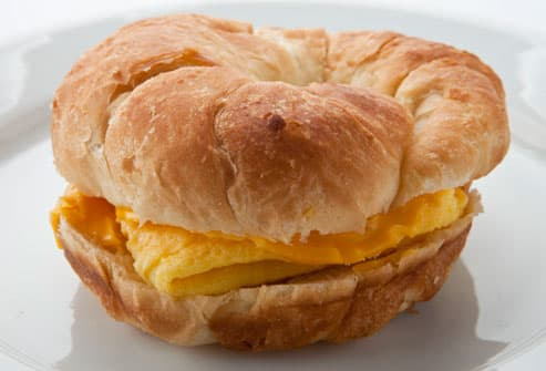 Burger Kings Egg And Cheese Crossanwich