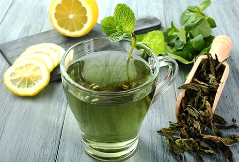 Green tea lemons