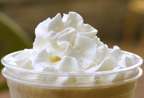 coffee and whipped cream