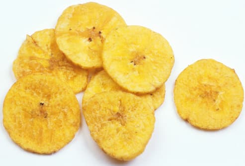 Banana Chips on White Table