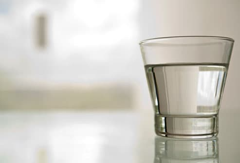 photo of glass of water before gastric bypass surgery