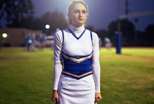 nervous cheerleader