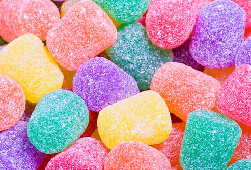 Colorful Candy Gum Drops