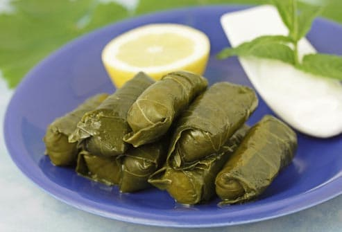 tasty stuffed grape leaves