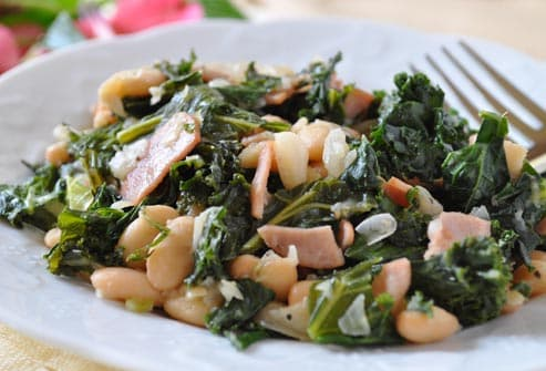 kale and white beans