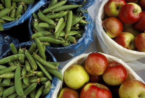 Green beans and apples