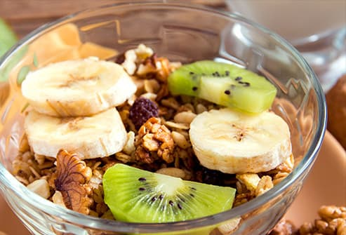 cereal flakes with fruit