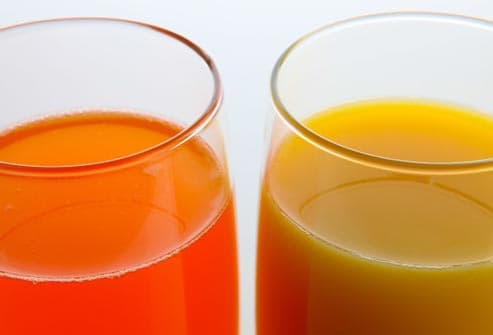orange soda and orange juice