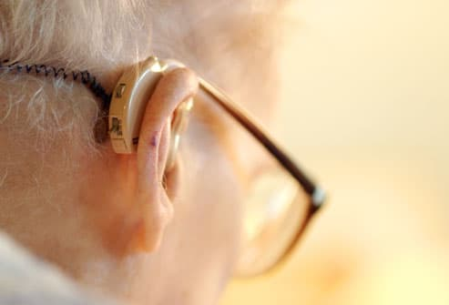 Older Man Wearing Hearing Aid