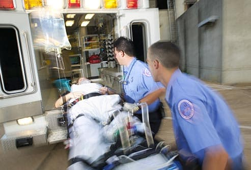 getty rf photo of ambulance - 10 Visual Guide to a Heart Attack By Webmd